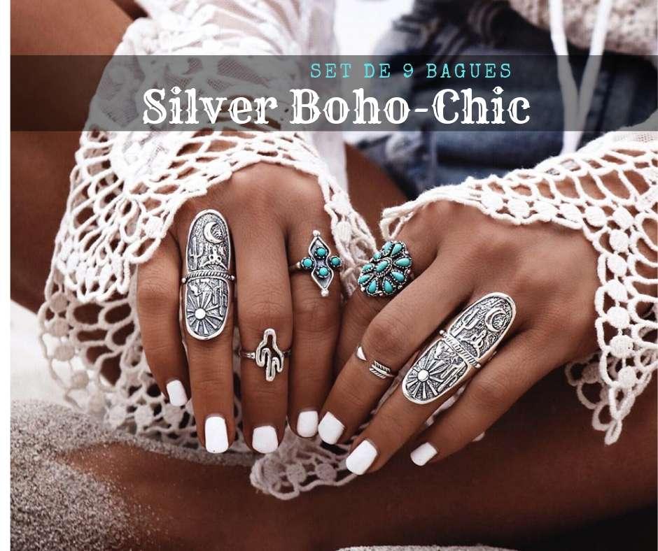 bague argent style boho-chic cadeau ring femme