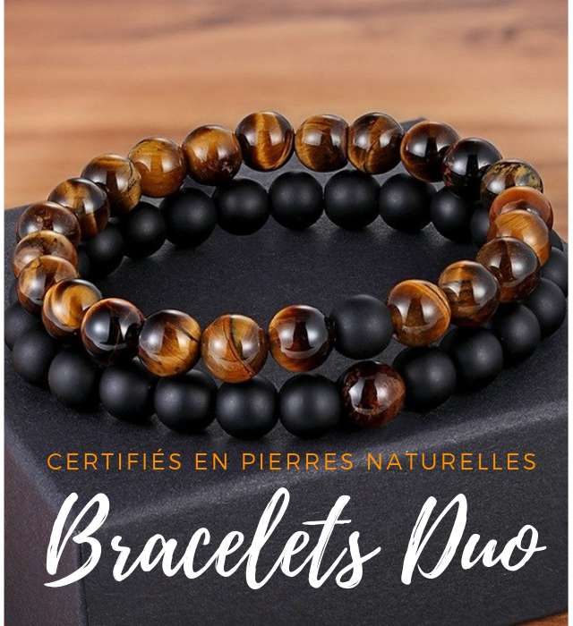 bracelet en pierres naturelles homme femme