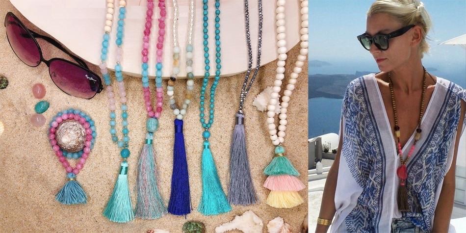 Colliers Pompon à Perles