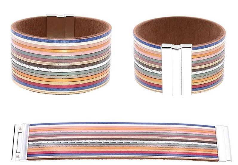 bracelet en cuir femme style chic