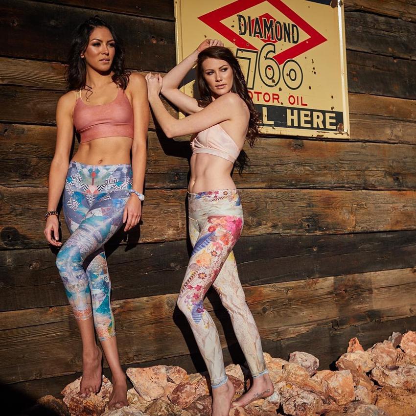 leggingfemme sport bohème-chic fleurs fitness yoga pantalon sport