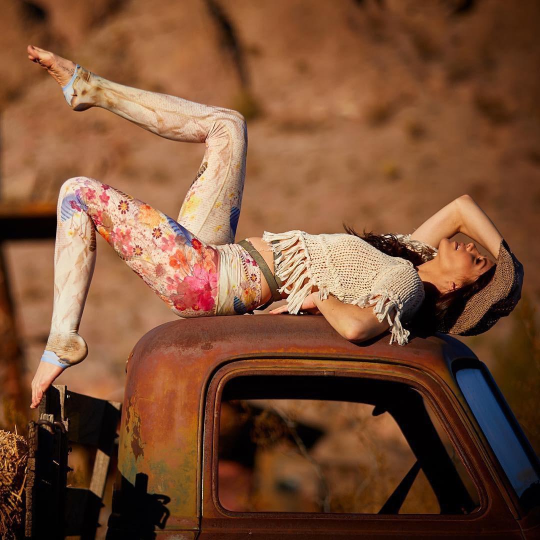 Leggings Boho-Chic Fleurs Vintage