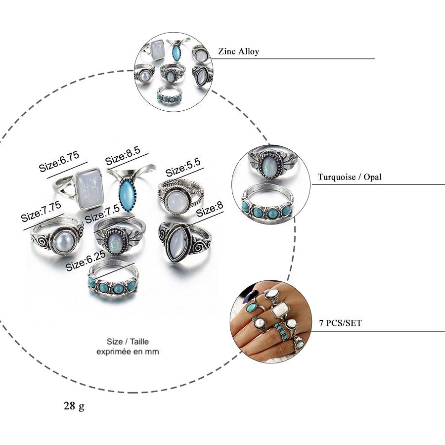 silver ring boho argent bohème