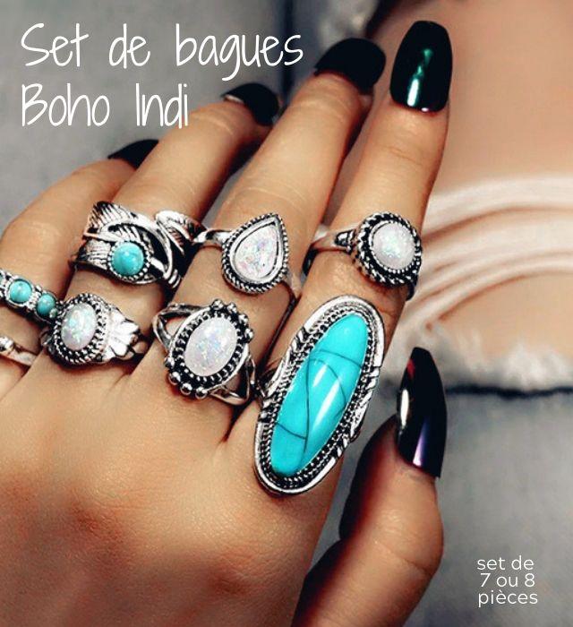 Bague en Argent Femme style boho-chic bohème