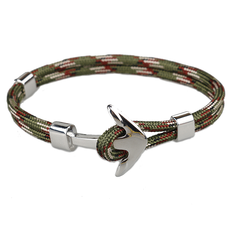Bracelet Corde Navy Ancre camouflage