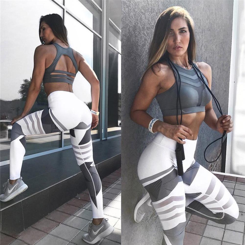 Leggings Sport Blanc Taille S
