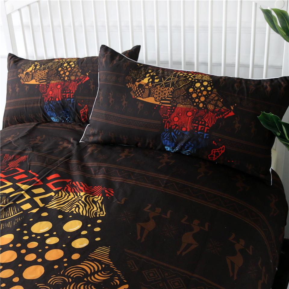 parure linge de lit protection couette thème Afrique