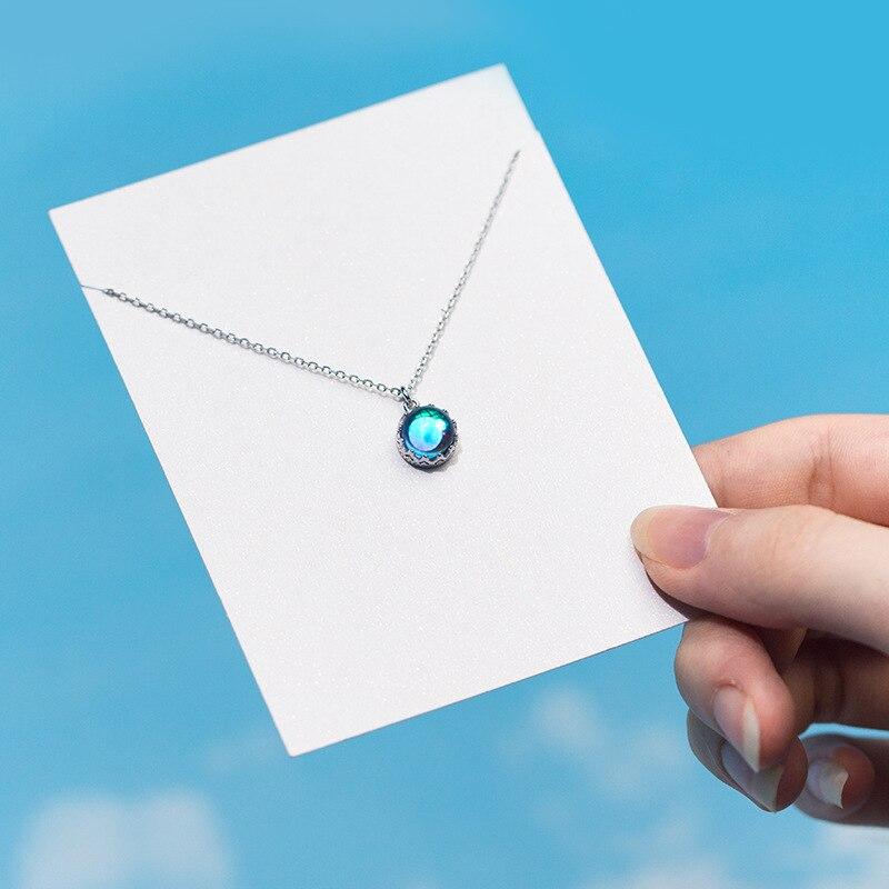 Collier argent Femme Pendentif Cristal