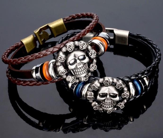 Bracelet cuir Hell\'s Angel