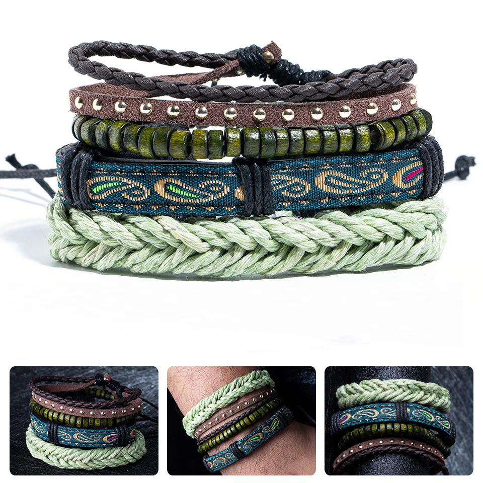 bracelets en cuir pour homme