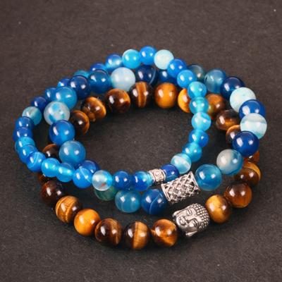 bracelets homme perles naturelles hipster