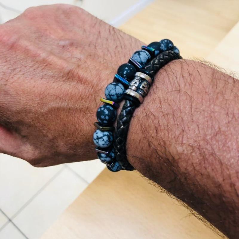 Bracelets Homme Pierres et Cuir Nobylis