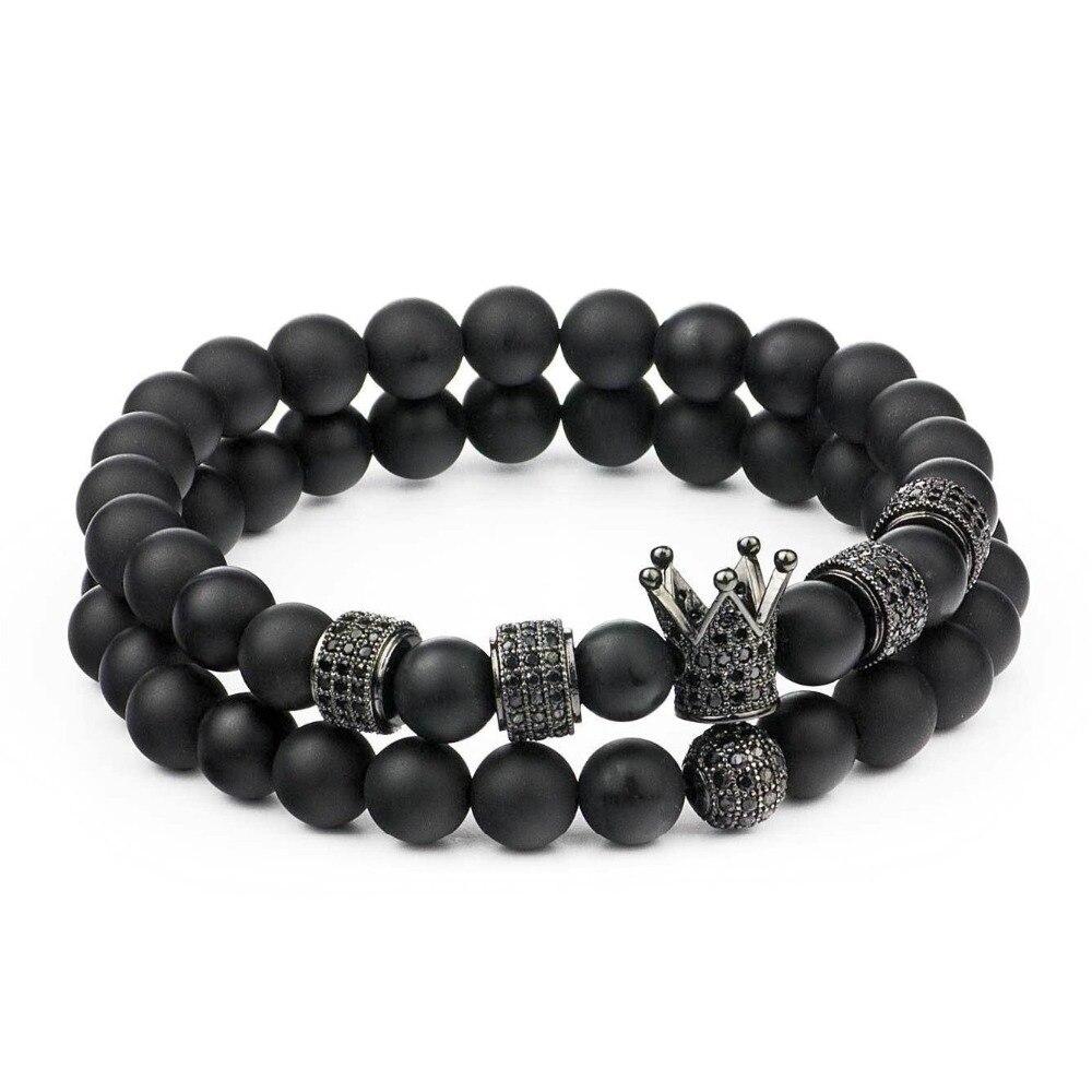 bracelet à perles pierres Homme