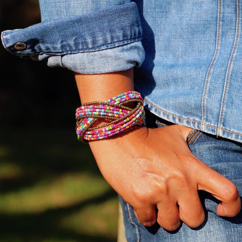Bracelet manchette Perlada