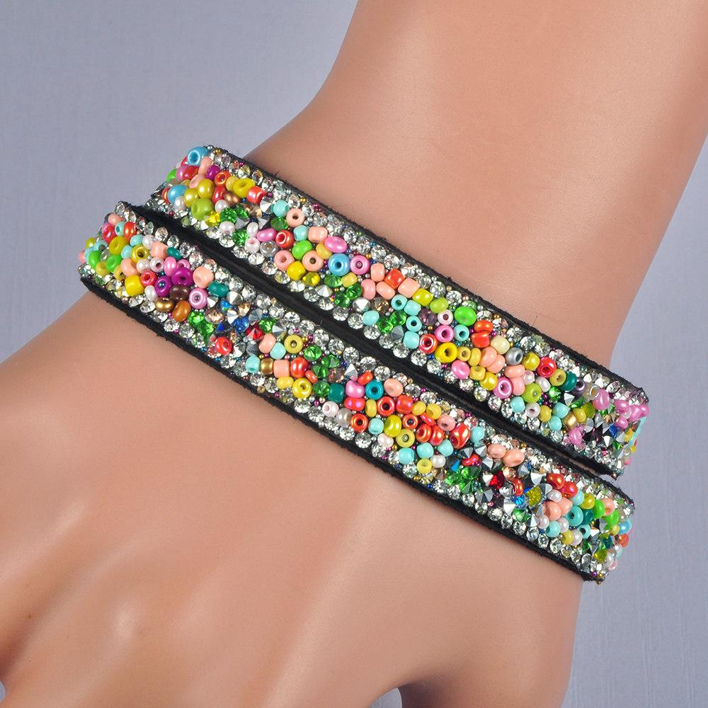 Bracelet Double Wrap Glitter