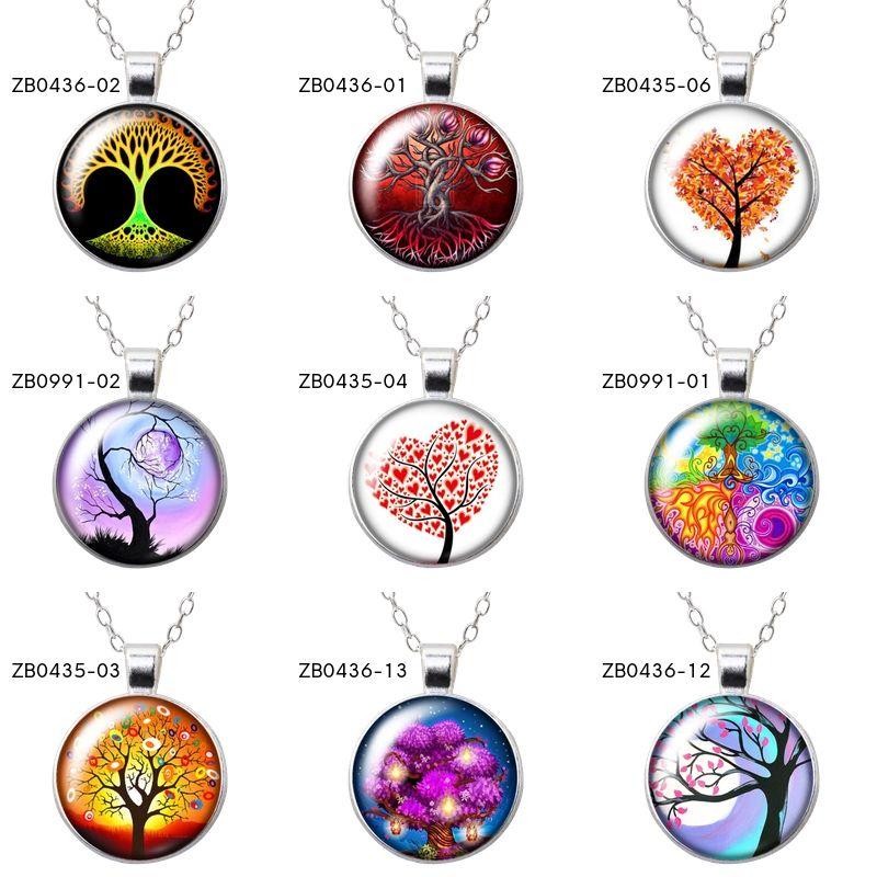Collier pendentif pour Femme Arbre de vie Nature Tree Life