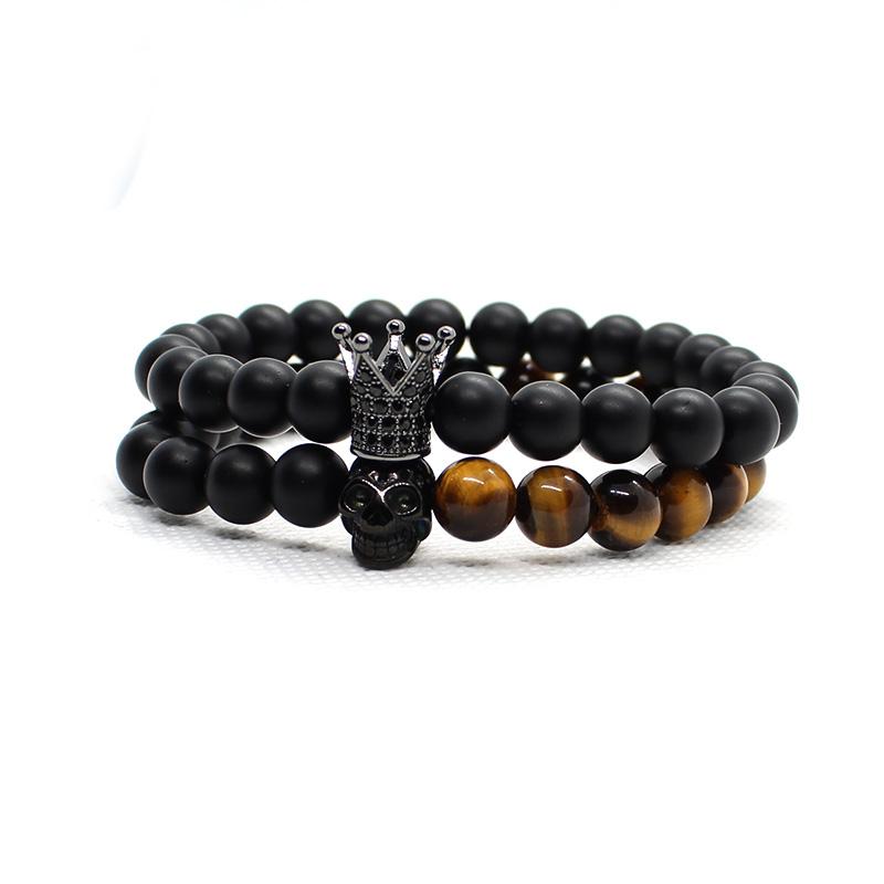 duo bracelet en perles homme femme pierres naturelles