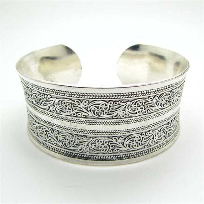 bracelet femme manchette argent tibétain