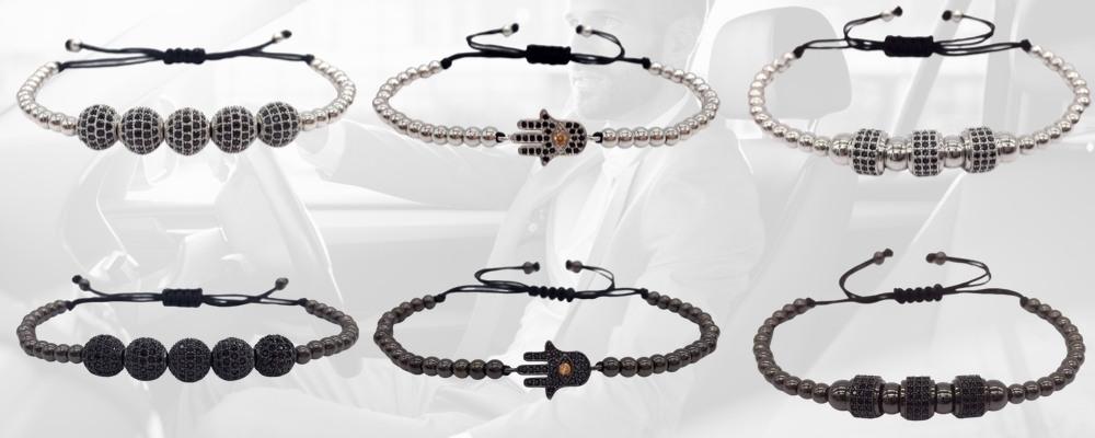 Bracelets Homme perles Happy Hipster