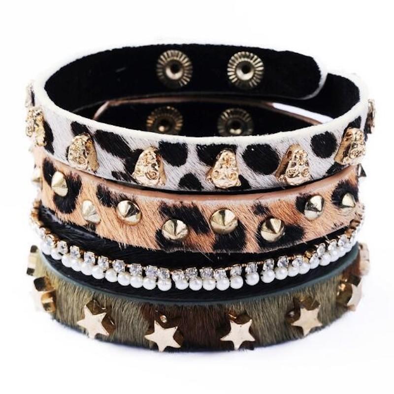 Bracelet Cuir Grands Fauves