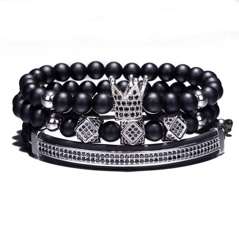 bracelet de luxe en perles homme femme pierres naturelles