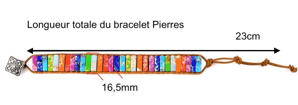 bracelet en perles homme femme pierres naturelles de Jaspe
