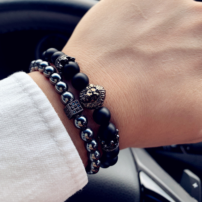 bracelet en perles homme pierres naturelles