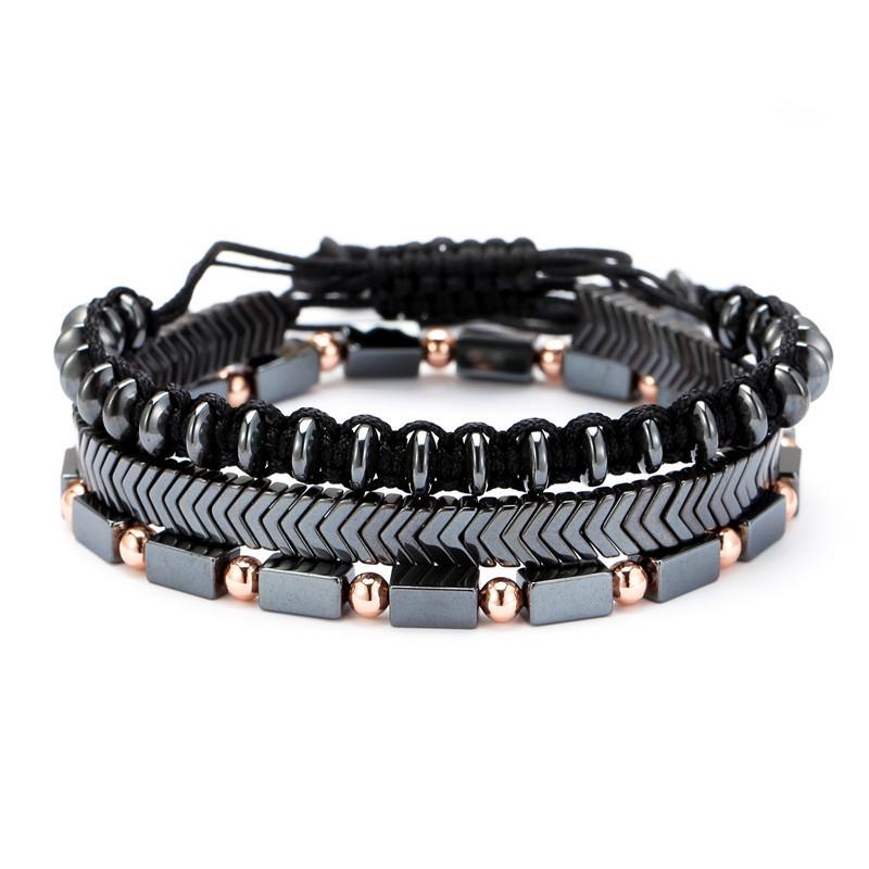 Bracelet Triple Black Trend
