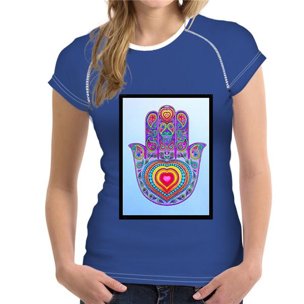 T-Shirt Femme Hamsa Energy Main Pourpre