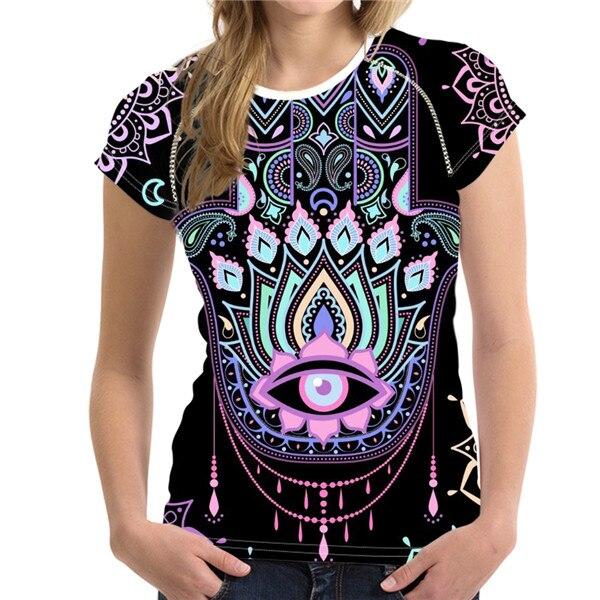 T-Shirt Femme Hamsa Energy Fatma Rose