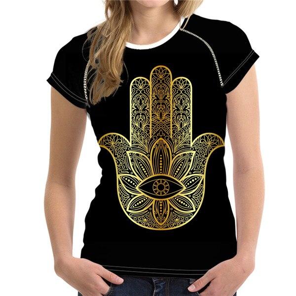 T-Shirt Femme Hamsa Energy La Main de Fatima