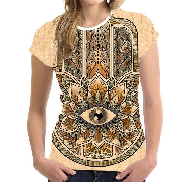 T-Shirt Femme Hamsa Energy Sable