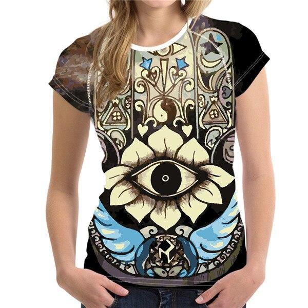 T-Shirt Femme Hamsa Energy Big Eye