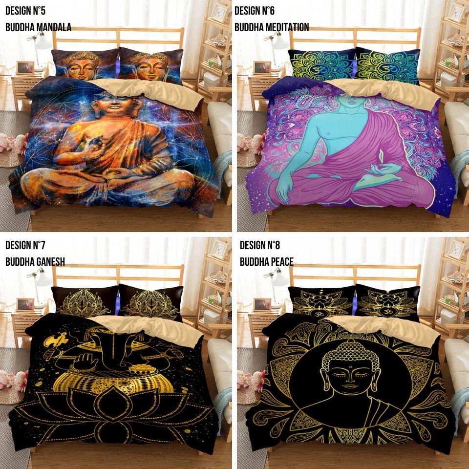 parure de lit, Buddha Series housse de protection de couette dessin inspirant