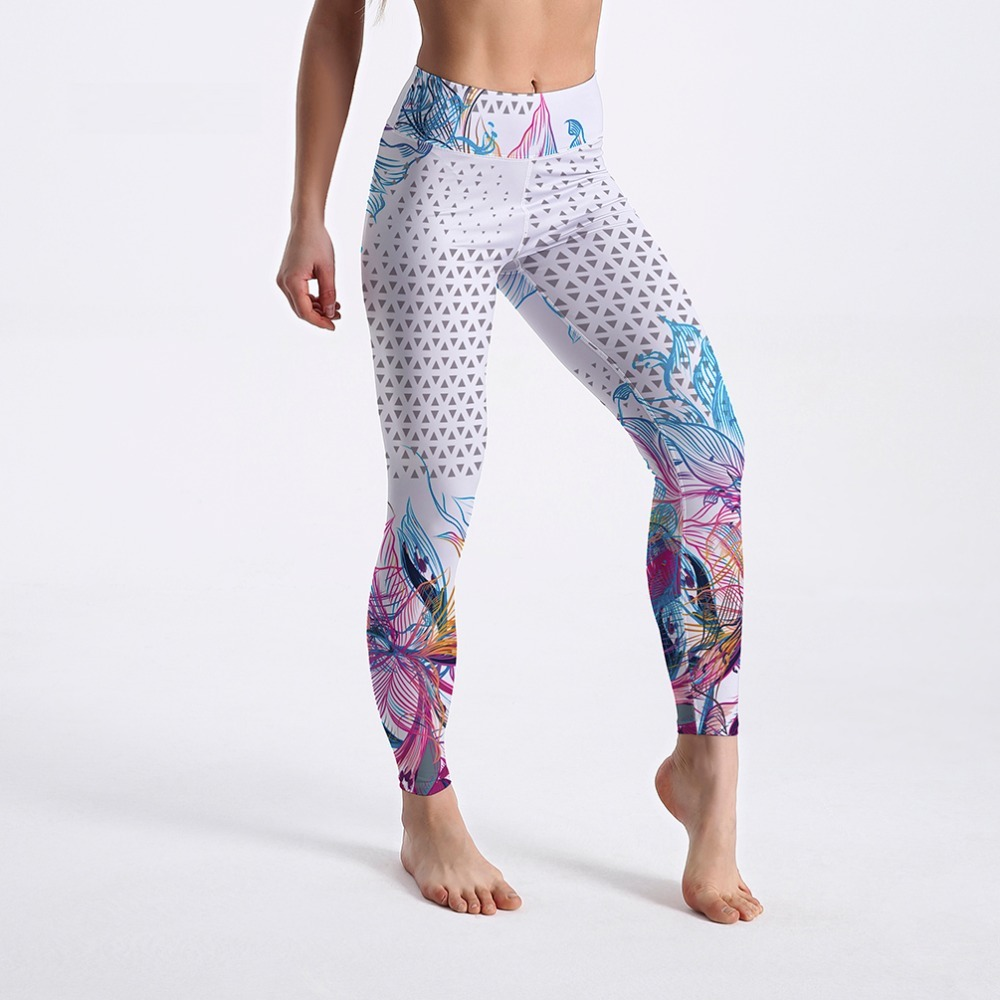Pantalons de sport et Leggings Yoga Mandala Taille Haute