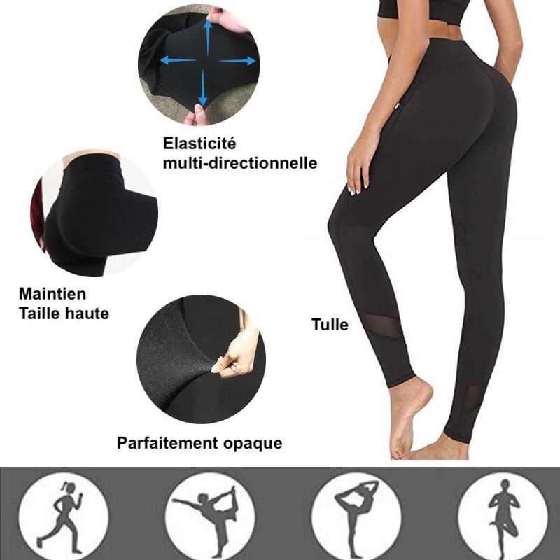 Legging noir Entrainement sport Fitness Femme