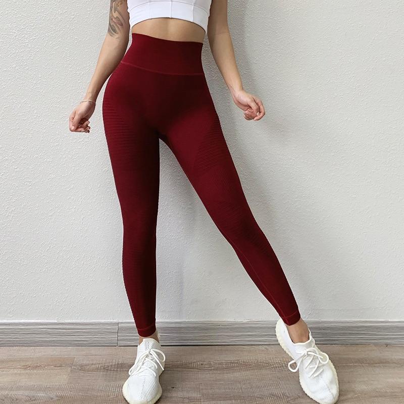Leggings sans couture Energy Rouge