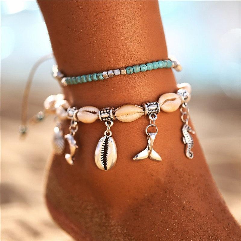 Bracelet de cheville Silver Ocean