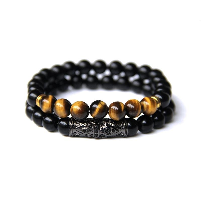 Bracelet Duo pierres Oeil de Tigre