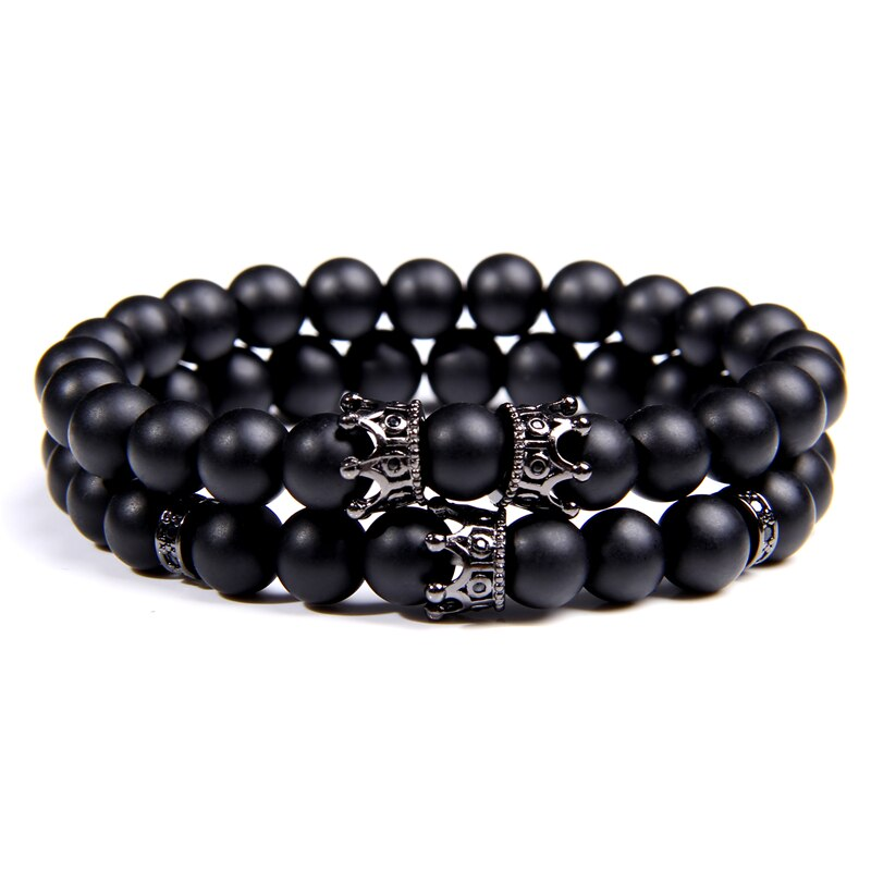 Bracelet Duo Black Triple Couronne