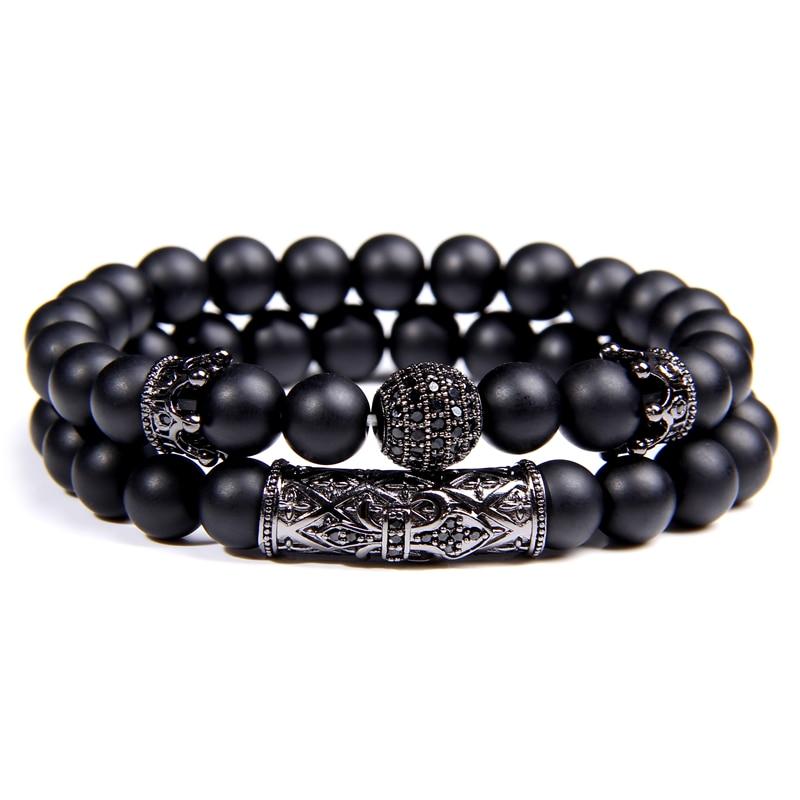 Bracelet Duo Black Sphère