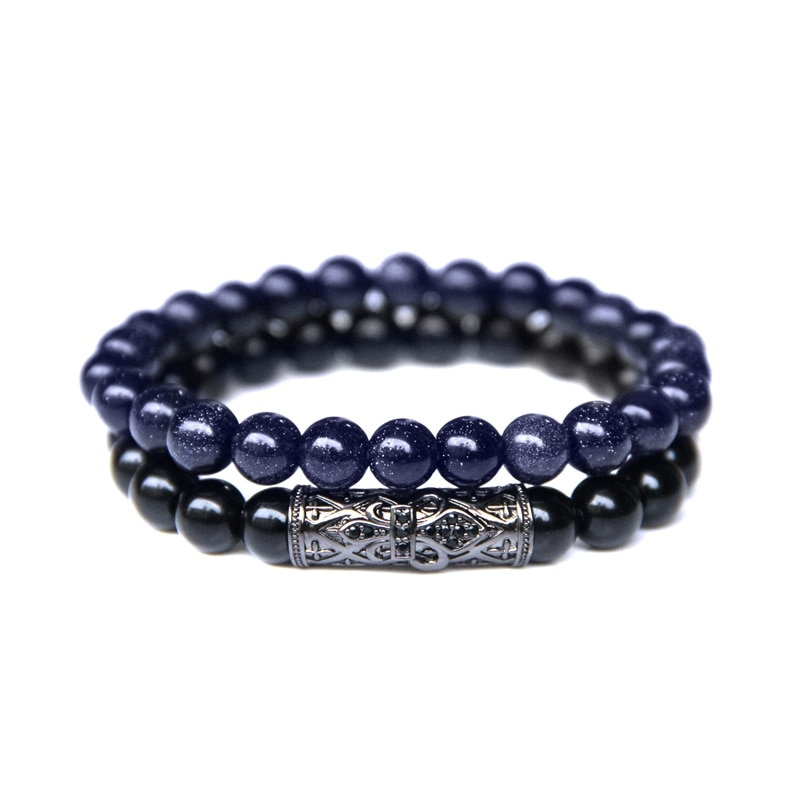 Bracelet Duo Black and Blue