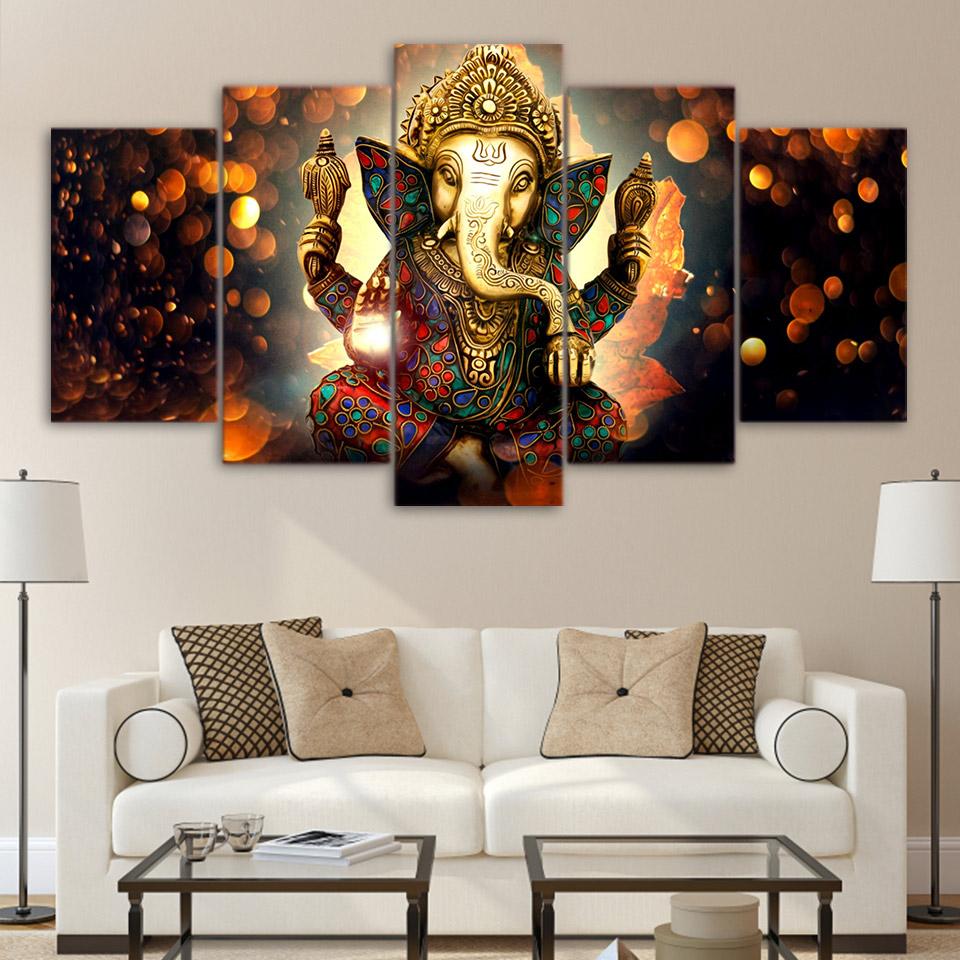 Tableau Toile 5 pièces Ganesh