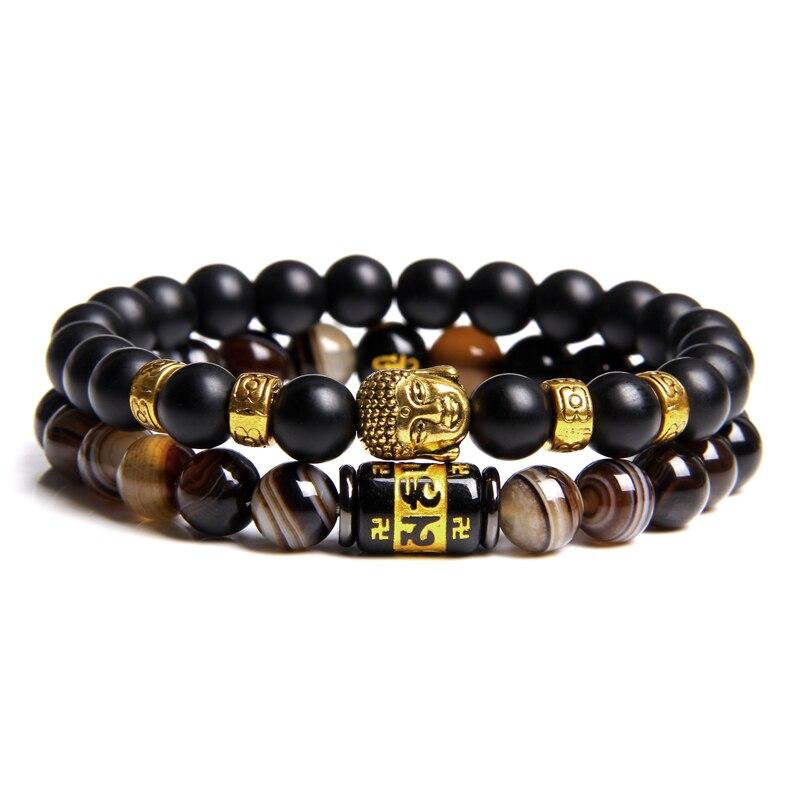Bracelet Duo Buddha Le moulin à prières