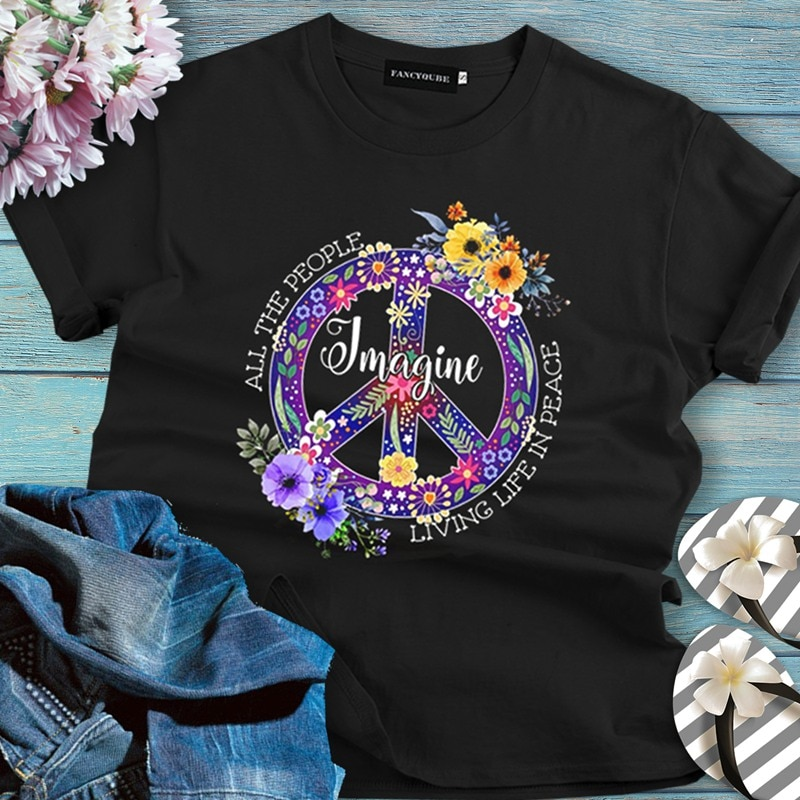 Gohappy T-Shirt Vintage Neo Hippie Boho-chic