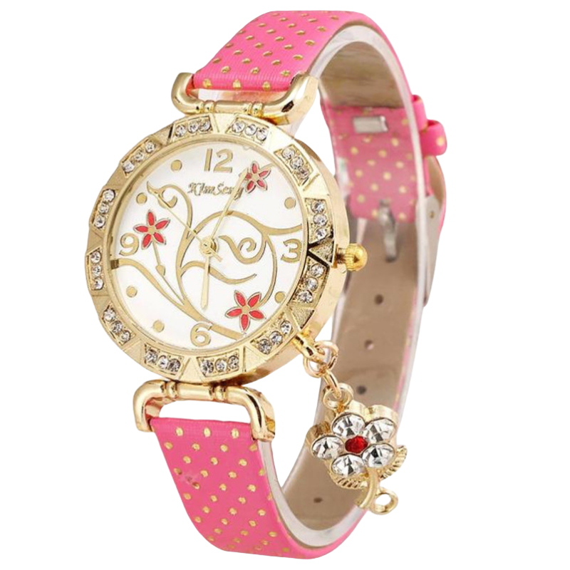 Montre-Bracelet Vintage Flower Rose