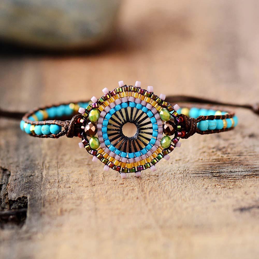 Bracelet tissé en perles de rocaille