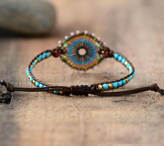 bracelet femme en perles tressées - GoHappy, Mode et Bien-être