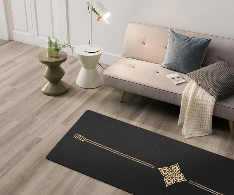Tapis de yoga fitness gym épais 6mm 183cm