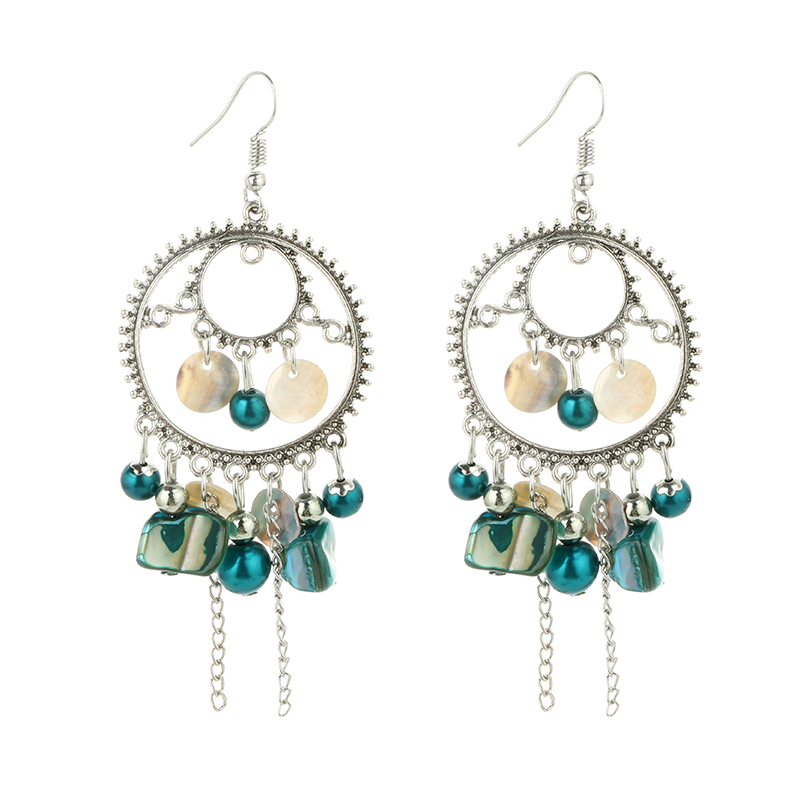 Boucles d\'Oreille Fashion Blue